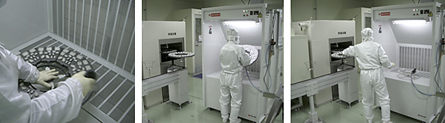 Example of use in a clean room