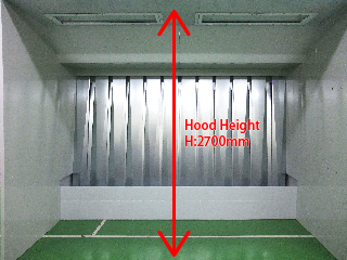 Height of the hood for OIL BOOTH TB-36-23B
