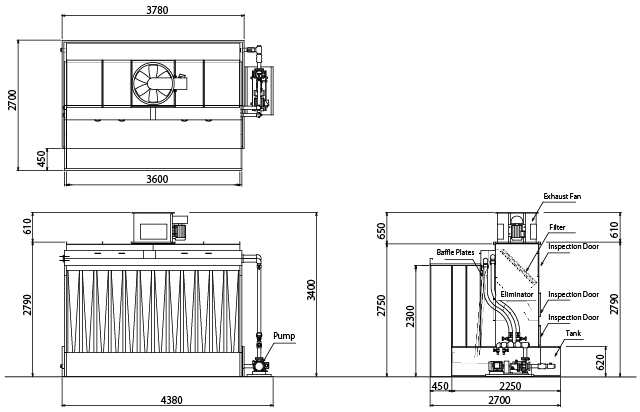 Standard Drawing for OIL BOOTH, Standard Product, TB-36-23B